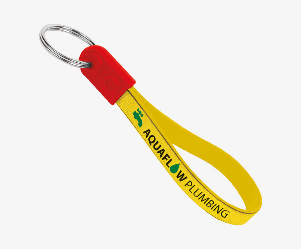 Ad Loop Key Ring Fobs Made in the UK Custom Printed 1 Colour for you